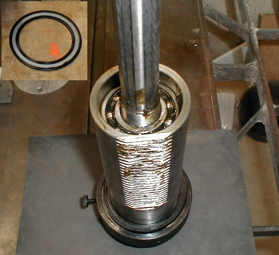 spindle with bearing seal removed